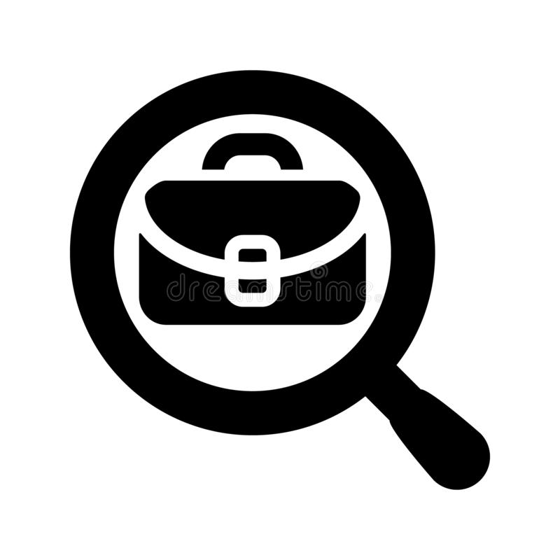 Search job vacancy icon vector. Loupe career illustration symbol. Find people employer logo. vector illustration