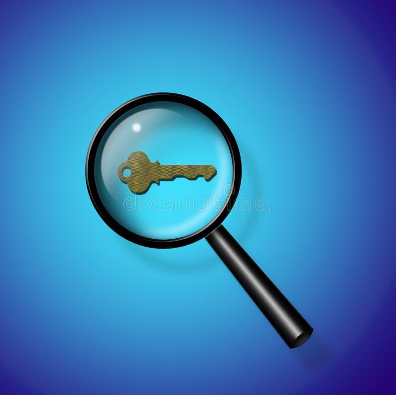 Search Key royalty free illustration