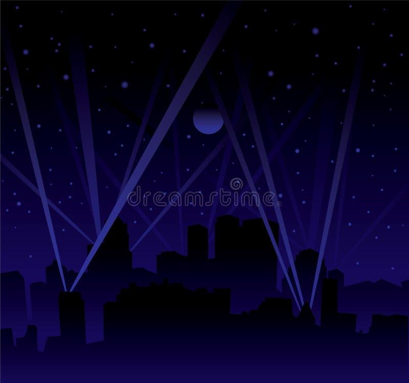 Search light skyline royalty free illustration