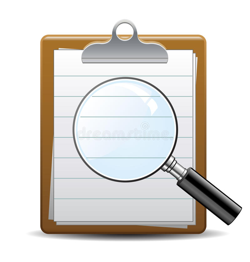 Download Search magnifying glass stock vector. Image of magnification - 26060303