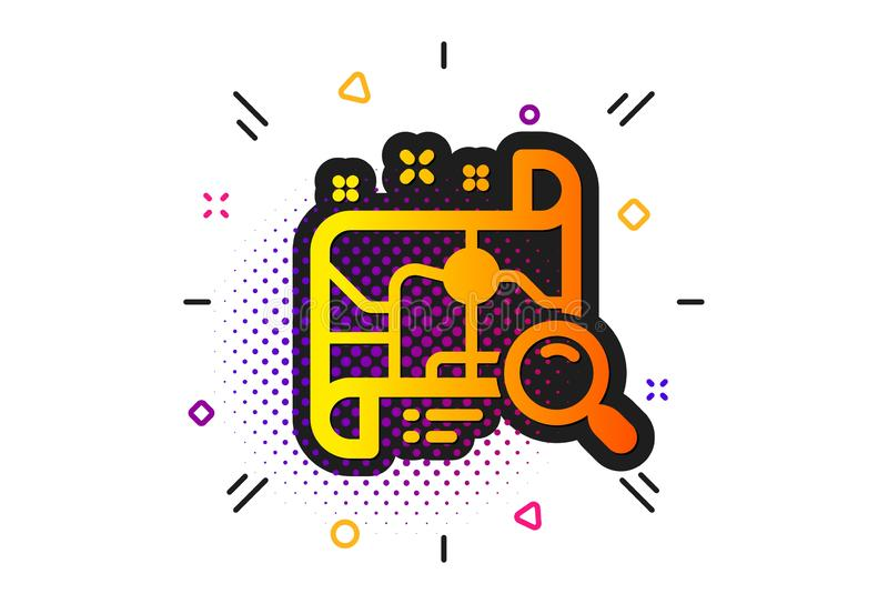 Search map icon. Find location address sign. Vector. Find location address sign. Halftone circles pattern. Search map icon. Classic flat search map icon. Vector vector illustration