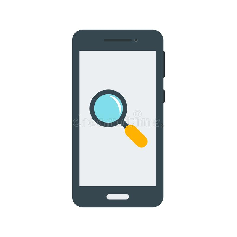 Search. Phone, internet, mobile icon vector image. Can also be used for smartphone. Suitable for mobile apps, web apps and print media royalty free illustration