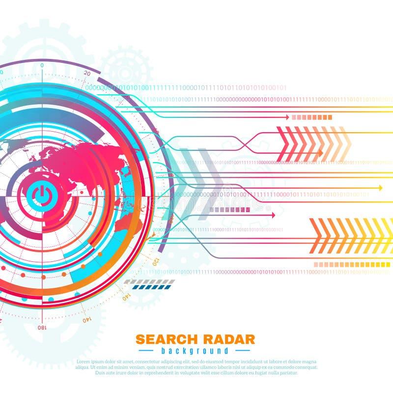 Search Radar Background stock illustration