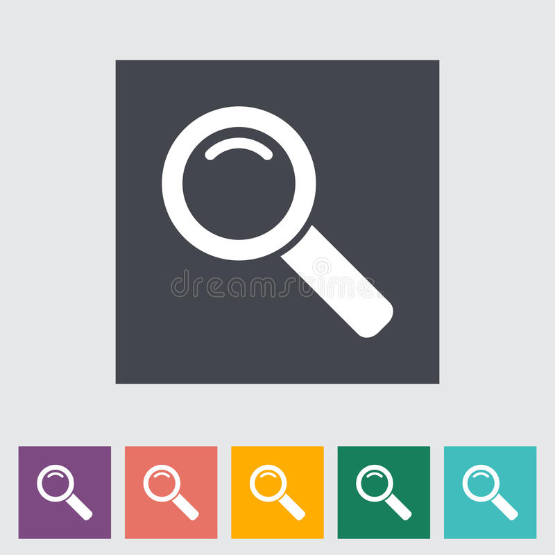 Search single flat icon. stock illustration