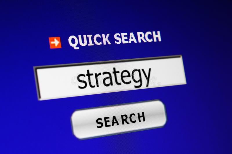 Search for strategy royalty free stock image