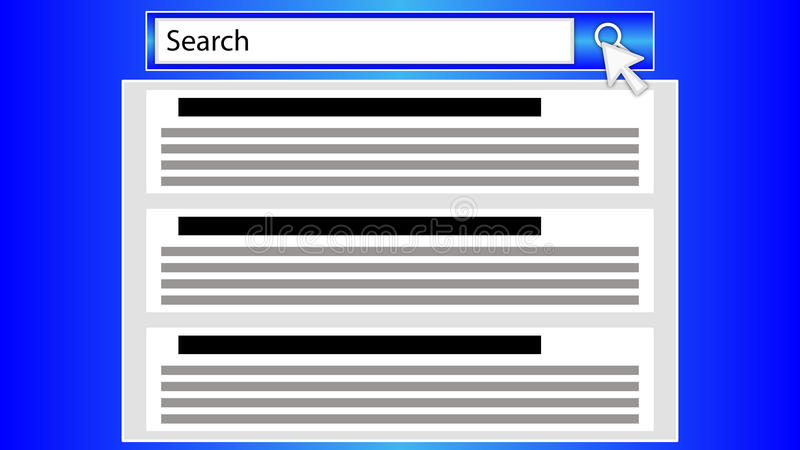 Search string in browser. Vector art illustration royalty free illustration