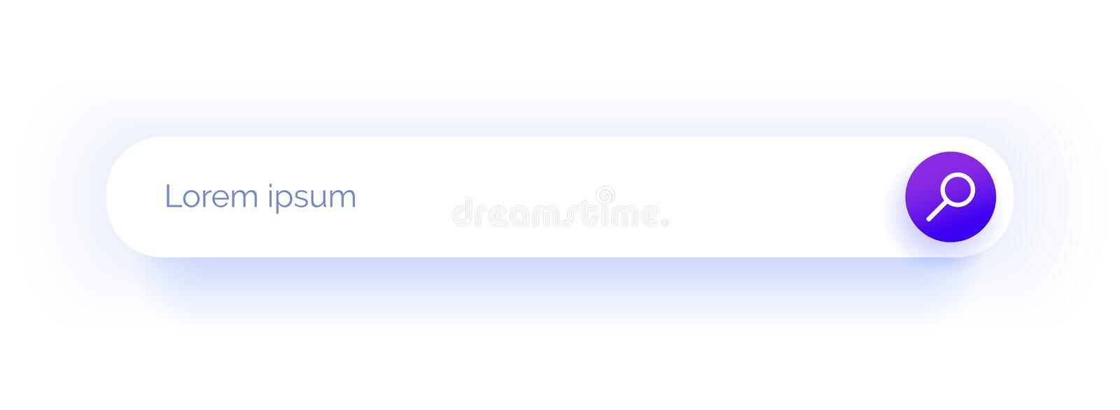 Search string. Input field. Web design.Purple icon. Search string. Input field. Web design. The magnifying glass icon in the fashion purple color gradient royalty free illustration