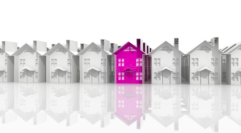 Search for suitable housing. Real estate search for business, and suitable housing stock illustration