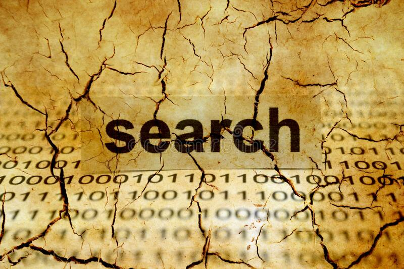 Search tag on cracked binary data.  royalty free stock photos