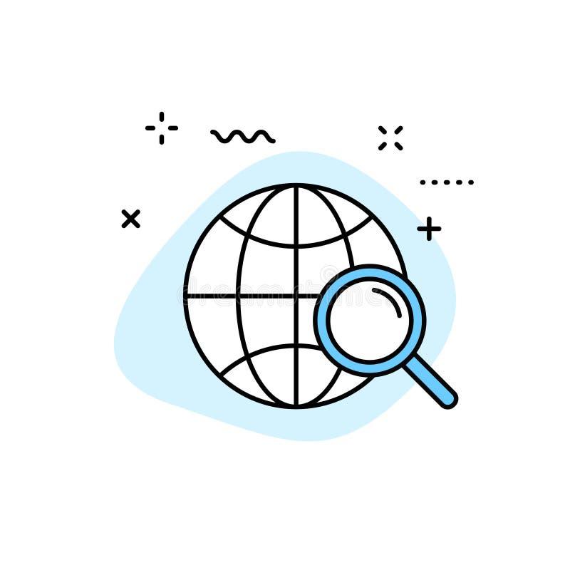 Search web icons in line style. SEO analytics, Digital marketing data analysis, Employee Management. Vector illustration.  stock illustration