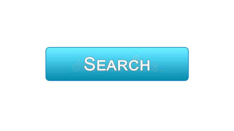 Search web interface button blue color, internet monitoring service, site design. Stock footage vector illustration