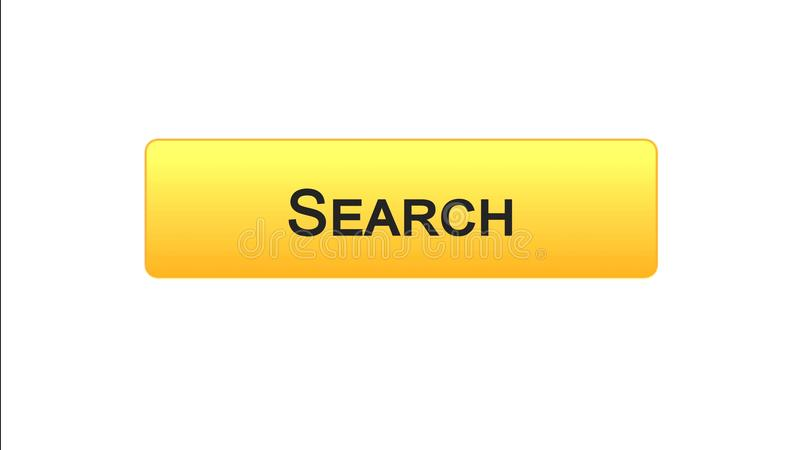 Search web interface button orange color, internet monitoring, site design. Stock footage royalty free illustration