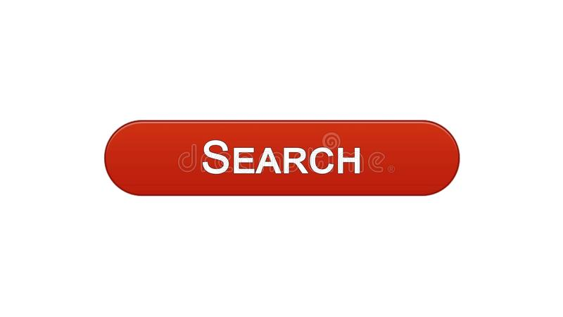 Search web interface button wine red color, internet monitoring, site design. Stock footage stock illustration