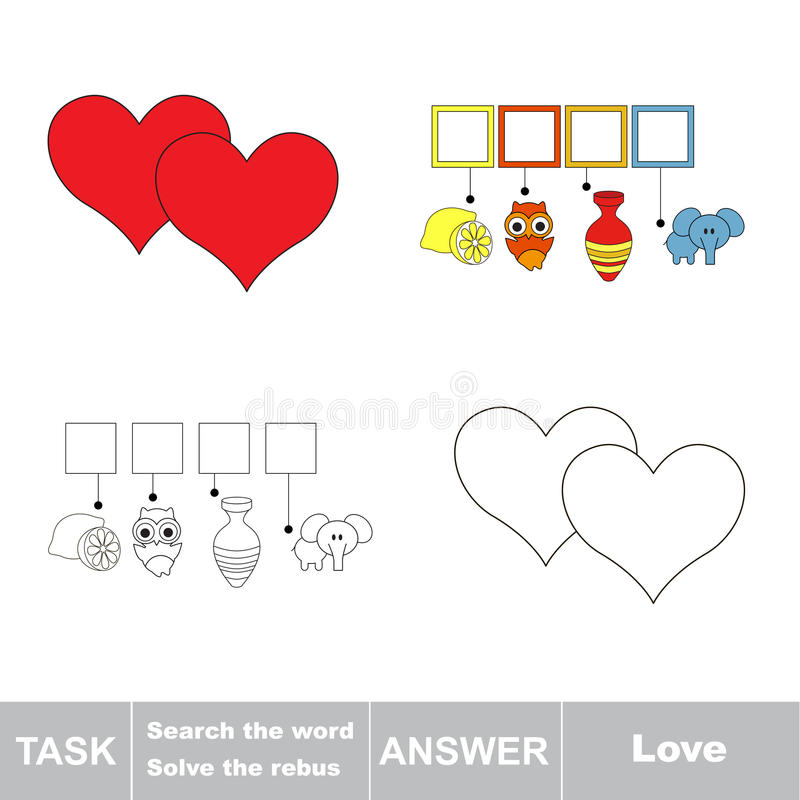 Download Search The Word Find Hidden Word Love Stock Vector Il Ration Of Love