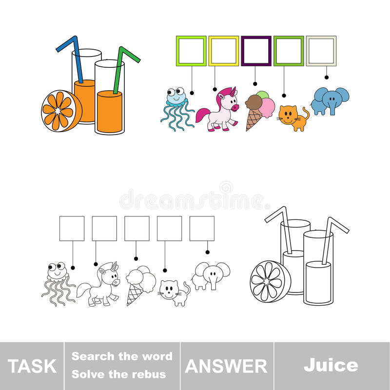 Search the word Juice stock illustration