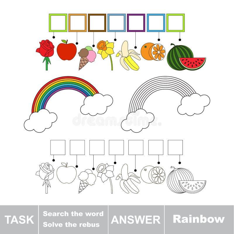 Search the word Rainbow stock illustration