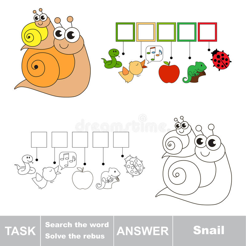 Search the word Snail stock illustration
