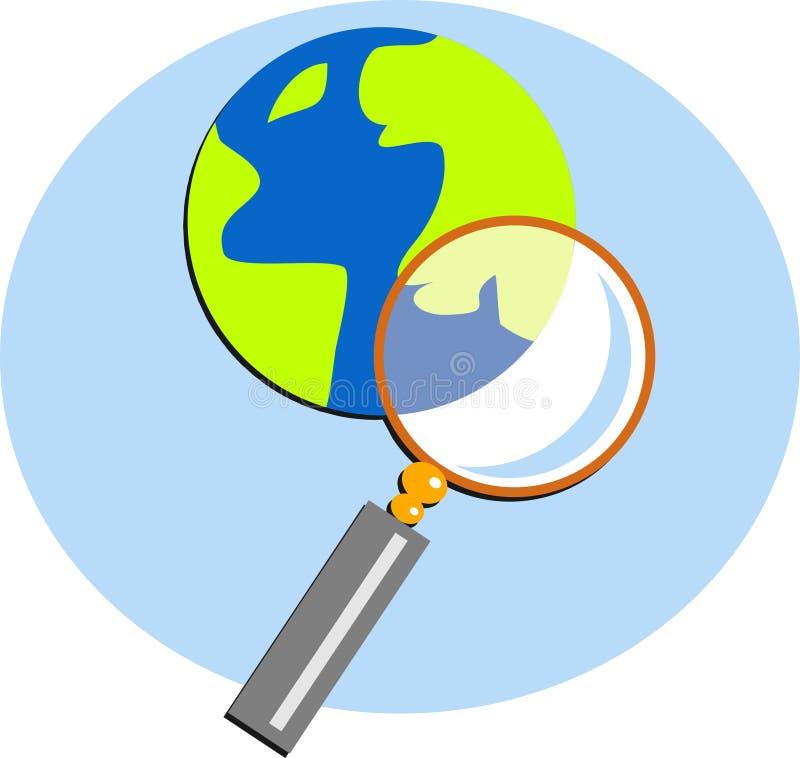 Searching stock illustration