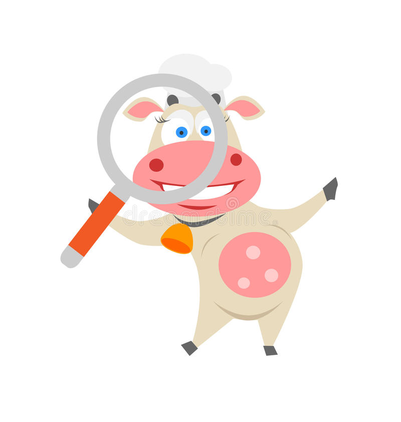 Searching Cow Royalty Free Stock Images