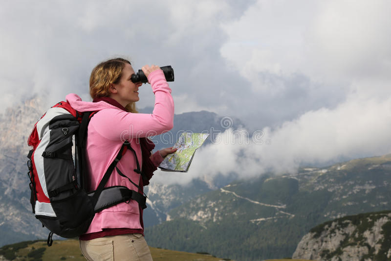 Download Searching The Destination While Hiking In The Mountains Stock Photo - Image: 34864928