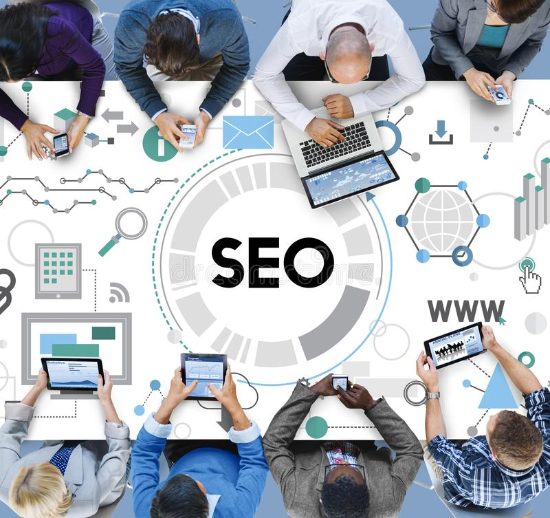 Searching Engine Optimizing SEO Browsing Concept stock image