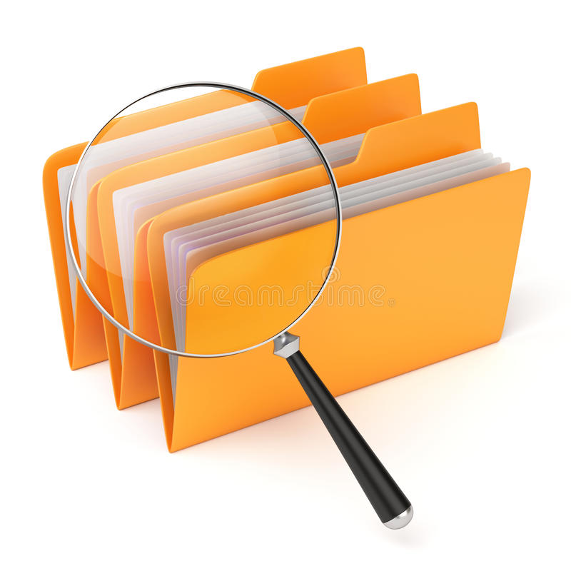Download Searching files. stock illustration. Image of paper, business - 20859872