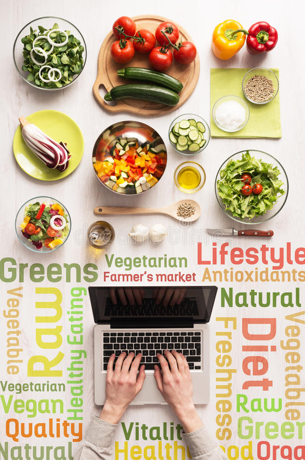 Searching for healthy vegetarian recipes online stock photo image download searching for healthy vegetarian recipes online stock photo image of ingredients hands forumfinder Images