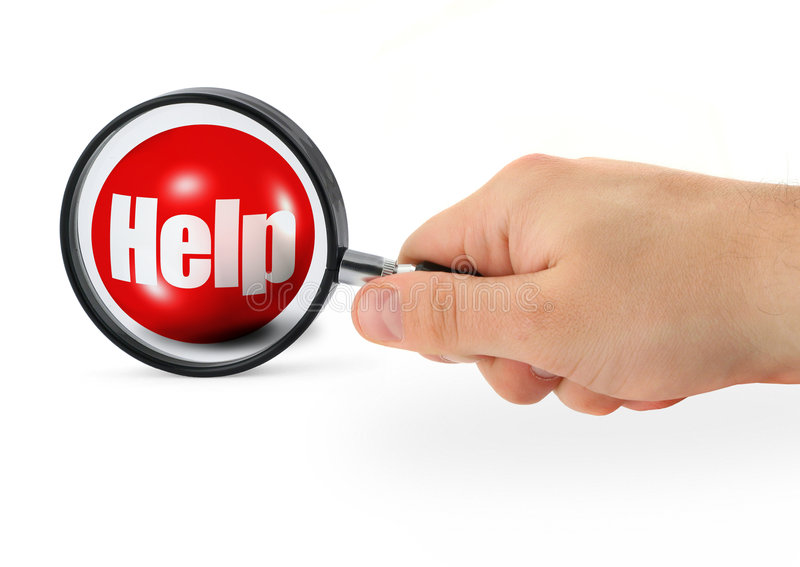 Download Searching for help stock illustration. Image of glass - 6598906