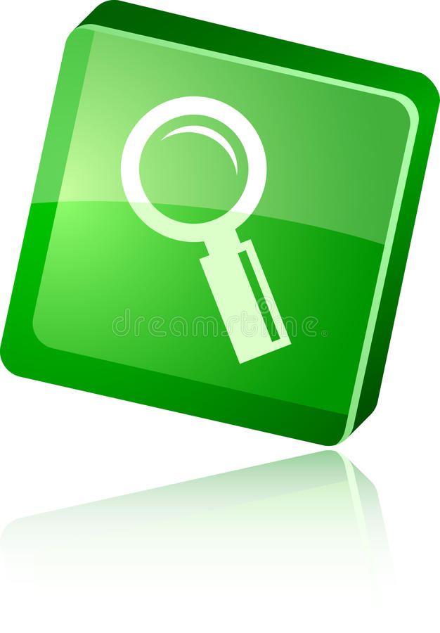 Download Searching  Icon. Royalty Free Stock Images - Image: 12371119