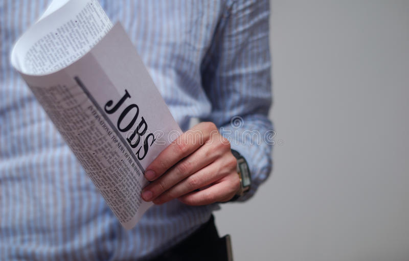 Searching for a job stock photo