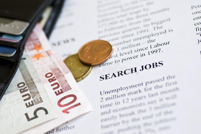 Searching job stock photography