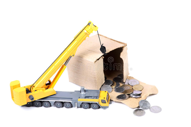 Searching money stock photography