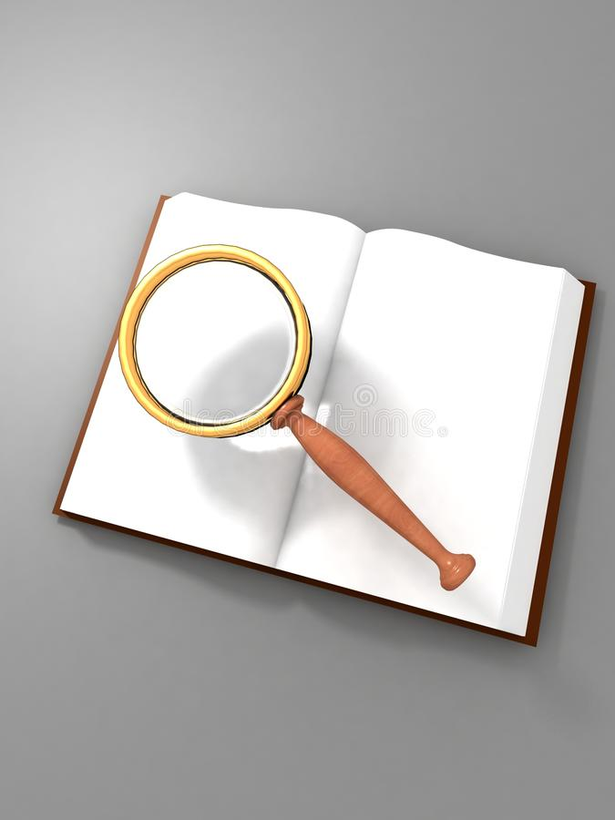 Searching In An Open Book Stock Photography