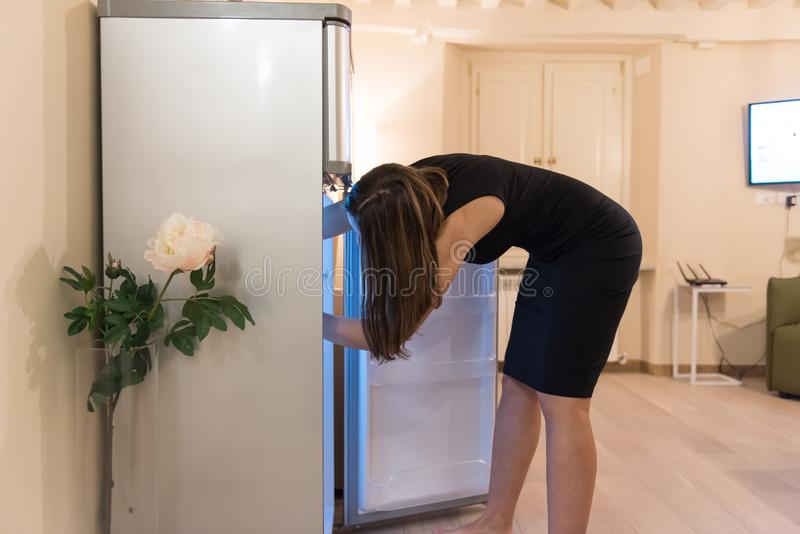 Searching the refrigerator stock photos