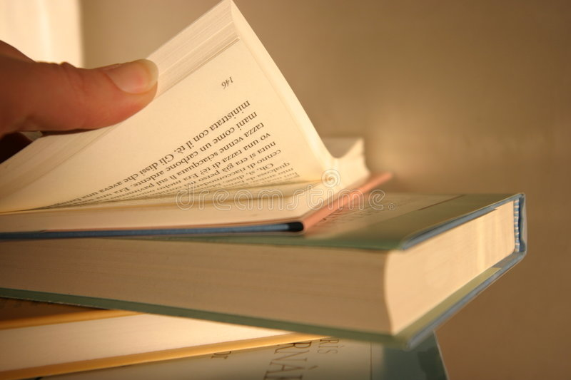 Download Searching the right page stock image. Image of research - 49989
