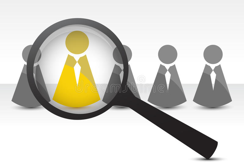 Searching for talent concept. Illustration design over white royalty free illustration