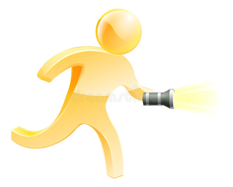 Searching torch person royalty free illustration