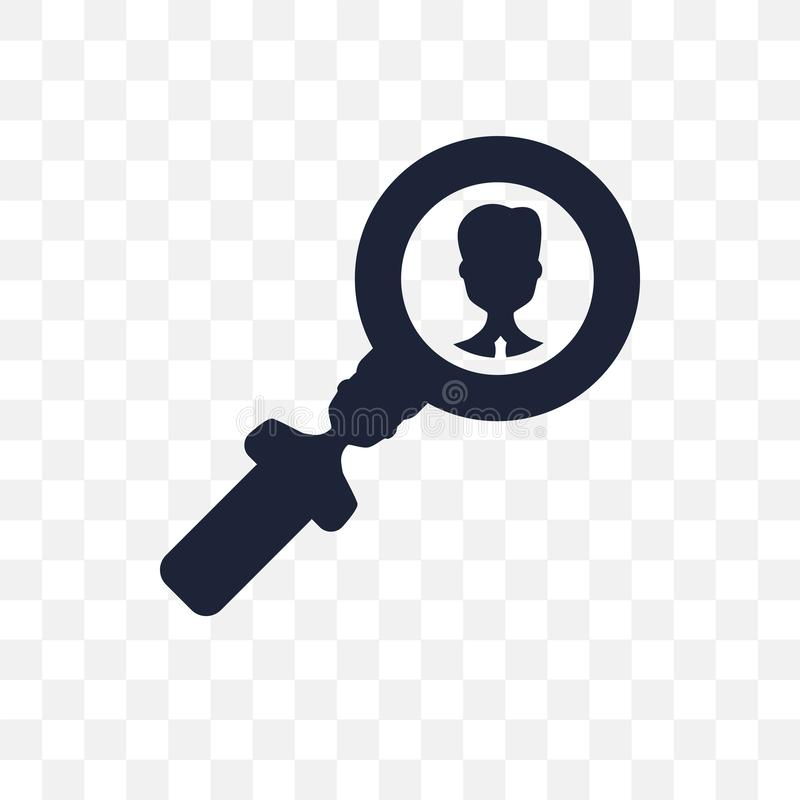 Searching transparent icon. Searching symbol design from Human r royalty free illustration
