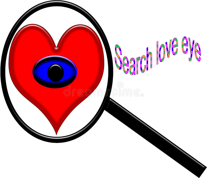 searching true love eyes with white background royalty free stock photography
