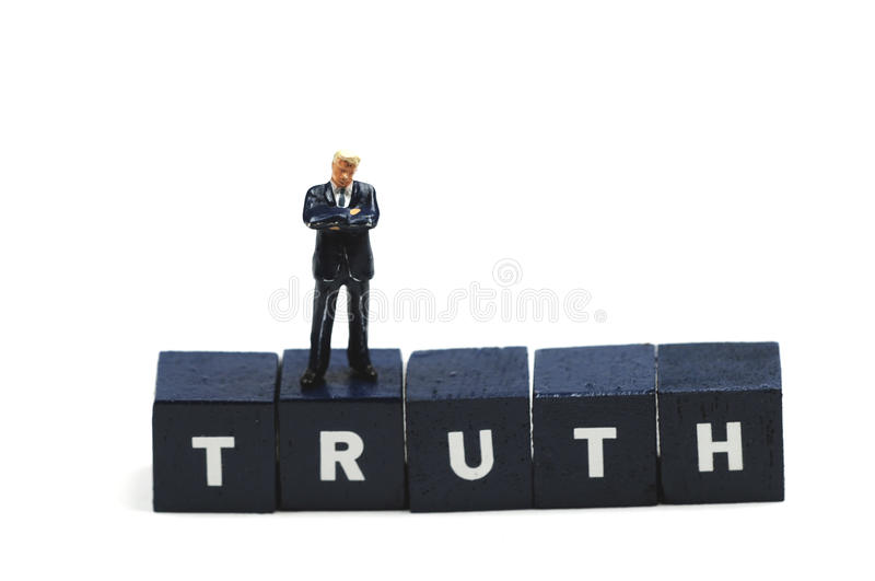 Searching for the truth. A man is searching for the truth stock photo