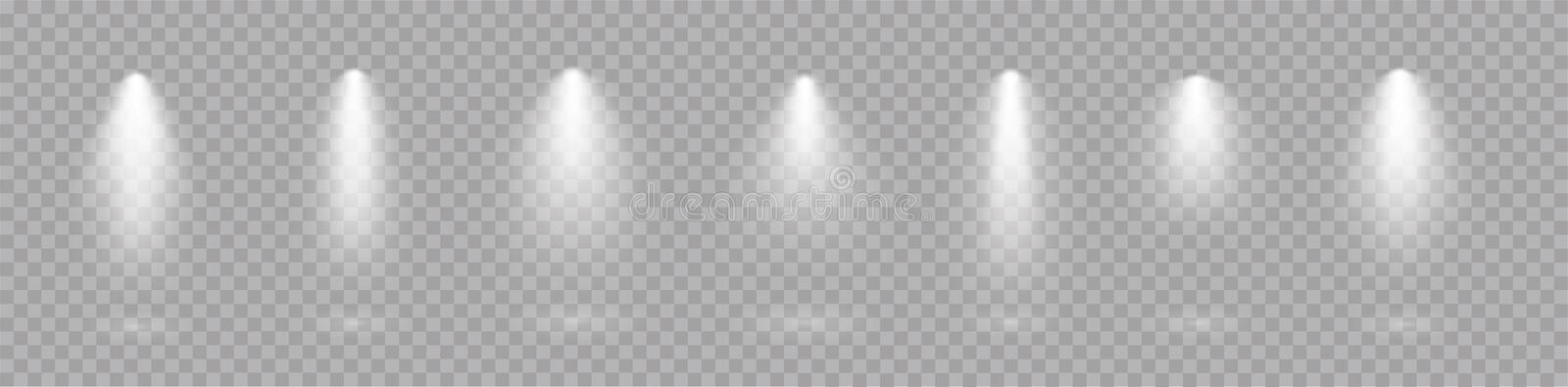 Searchlight collection for vector Spotlights light transparent effects. Scene - stock vector vector illustration