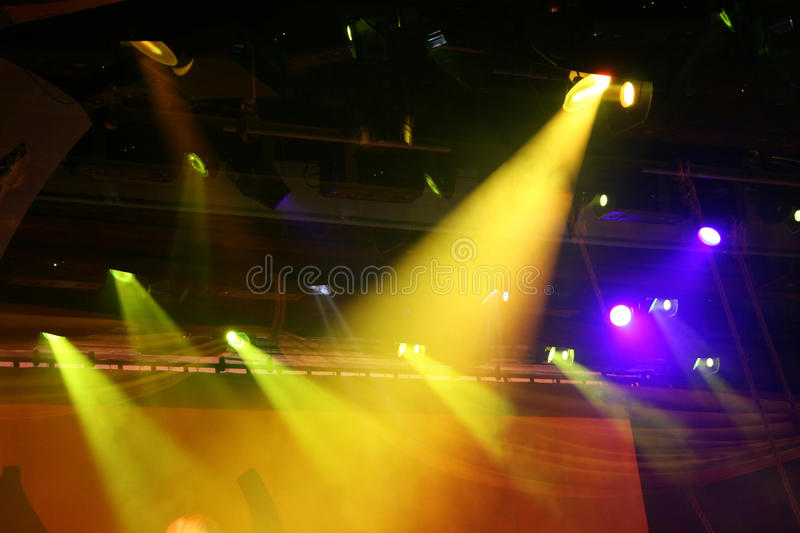 Searchlight in the theater royalty free stock image