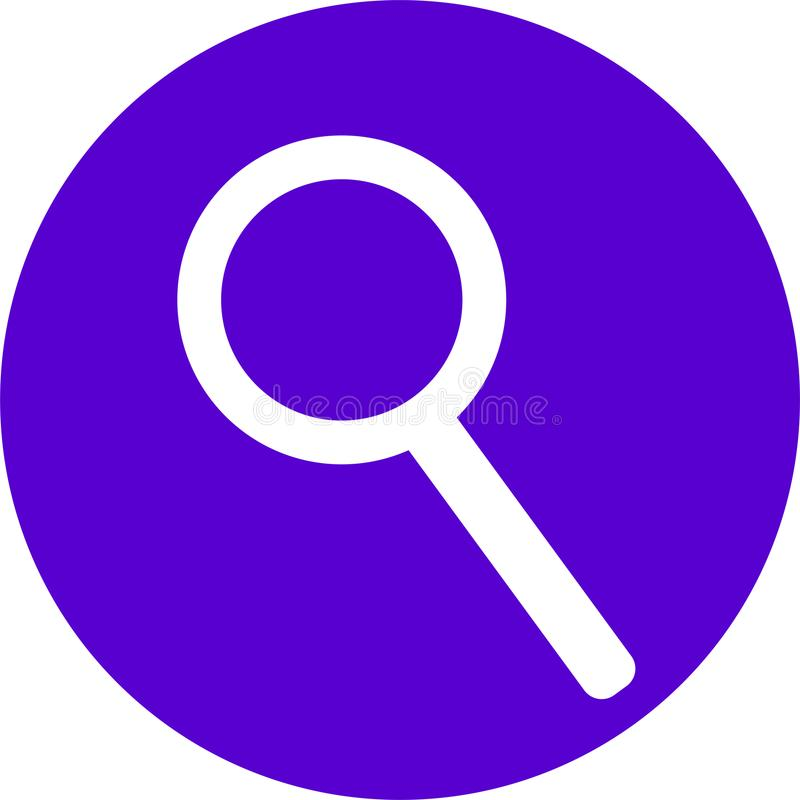 SEARCING ICON FOR WEB CONTENT stock images