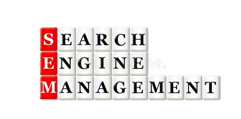 Searh引擎管理 向量例证