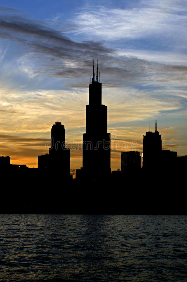 Sears Tower immagini stock libere da diritti