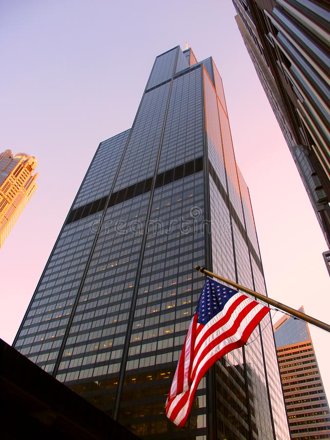 Sears Tower in Chicago stockfotos