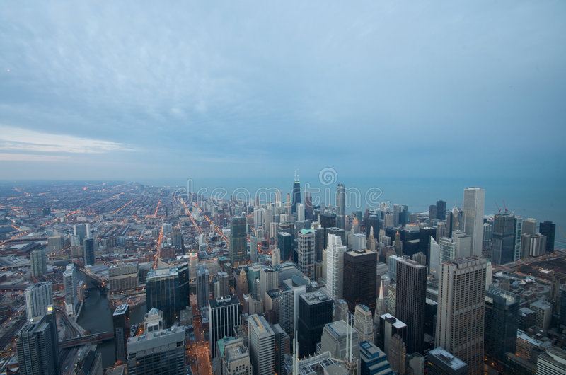 Download Sears Tower View Chicago stock image. Image of aerial - 7666681