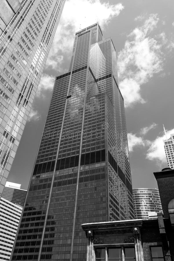 Sears Tower, Willis Tower lizenzfreie stockfotografie