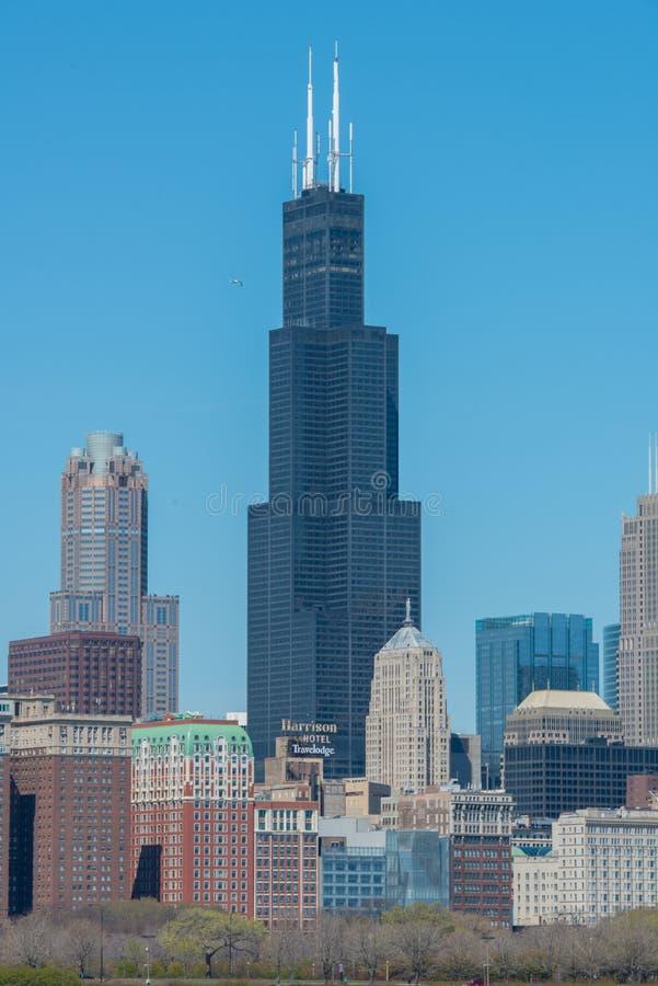 Sears Tower, Willis Tower photographie stock libre de droits