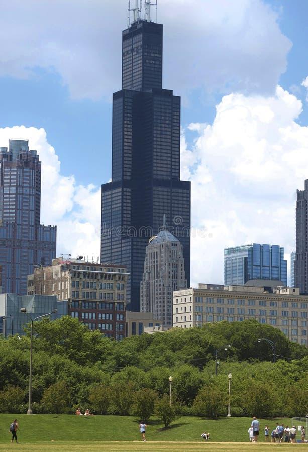 Sears/Willis Kontrollturm in Chicago, Illinois stockfoto